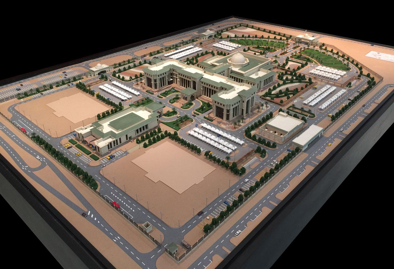 Scale Model - Architectural - Master plan - Abu Dhabi Federal Court - UAE