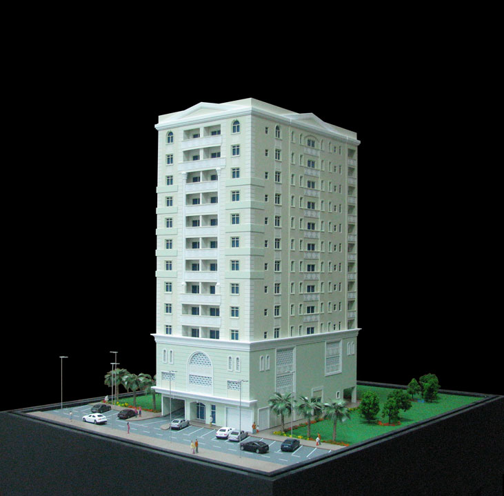 Scale Model - Architectural - Towers - Al Huda 1 Tower- UAE