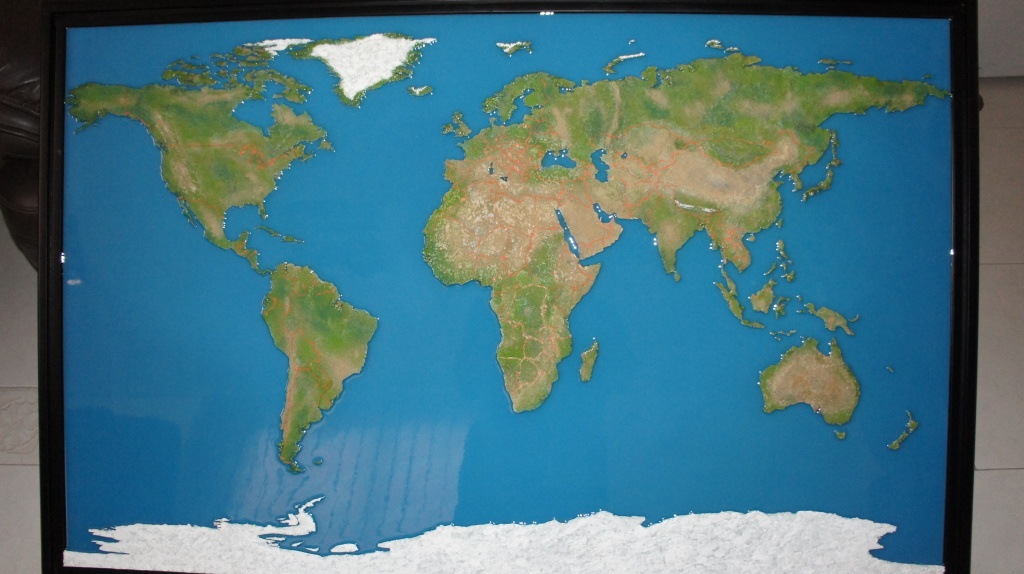 Scale Models - Architectural - Map - World map