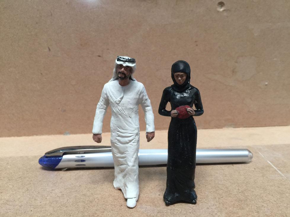 Scale Models - Figures - Arabic national dress figures