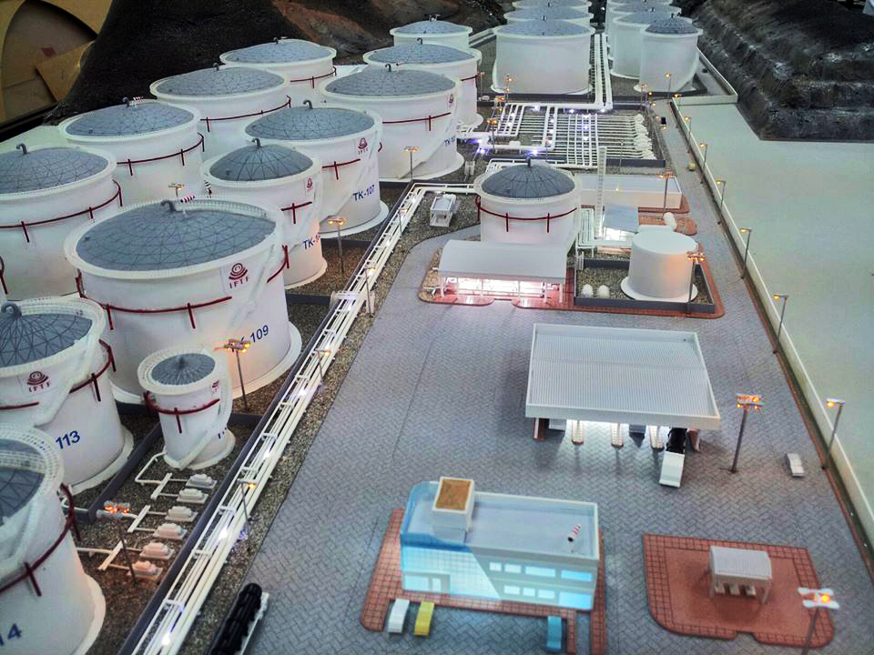 Scale Model - Industrial - Master plan - Fujairah oil terminal FZC - Lights