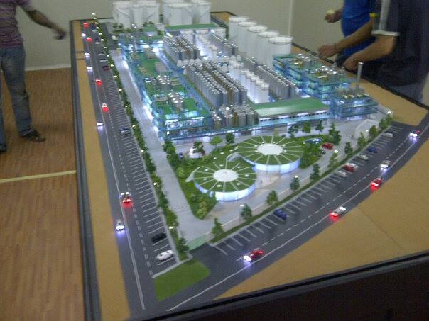 Scale Model - Industrial - Master plan  - Green energy plant