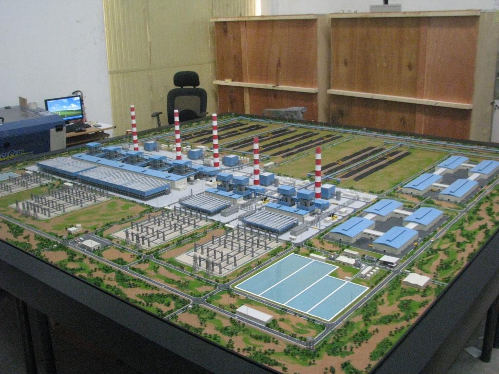 Scale Model - Industrial - Master plan - Jindal Steel & Power - Botswana