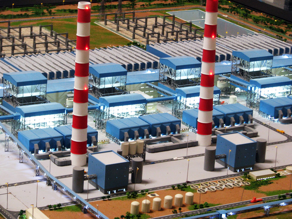 Scale Models - Industrial - Master plan - Partly - Jindal power station - Botswana