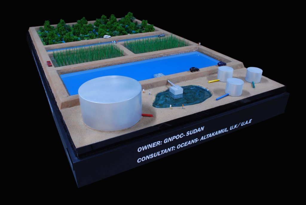 Scale Model - Industrial - Master plan -  Water treatment plant - Sudan