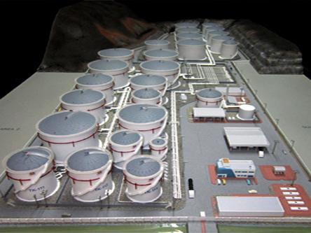 Scale Model - Industrial - Master plan - Fujairah oil terminal FZC