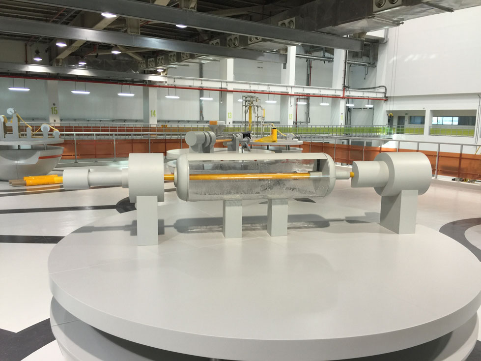 Scale Model - Industrial - Borouge models - Pipe extrusion
