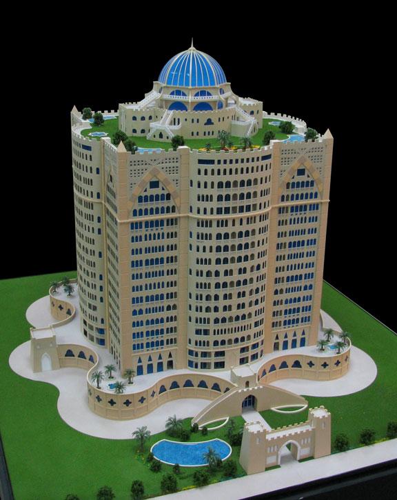 Scale Model - Architectural - Towers - Palazio Del Presidente
