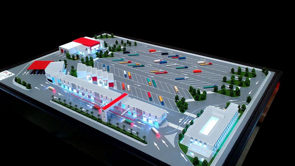 Scale Model - Architectural - RTA trucks terminal - UAE