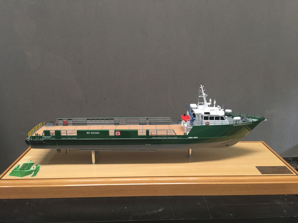 Scale model -  Ship - Bourbona Helle