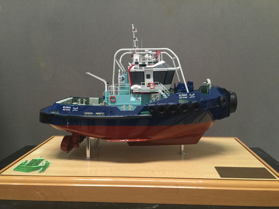 Scale model -  Ship - Tag boat - Elyah