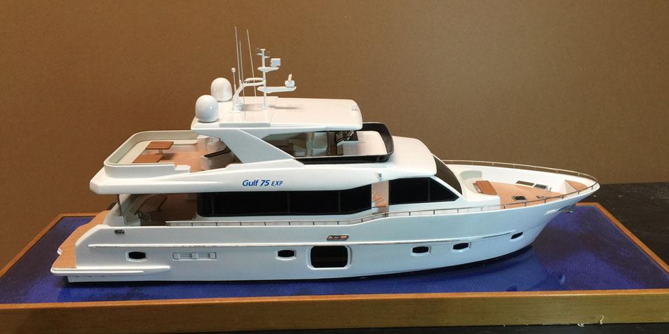 Scale Model - Yacht - Gulf 75