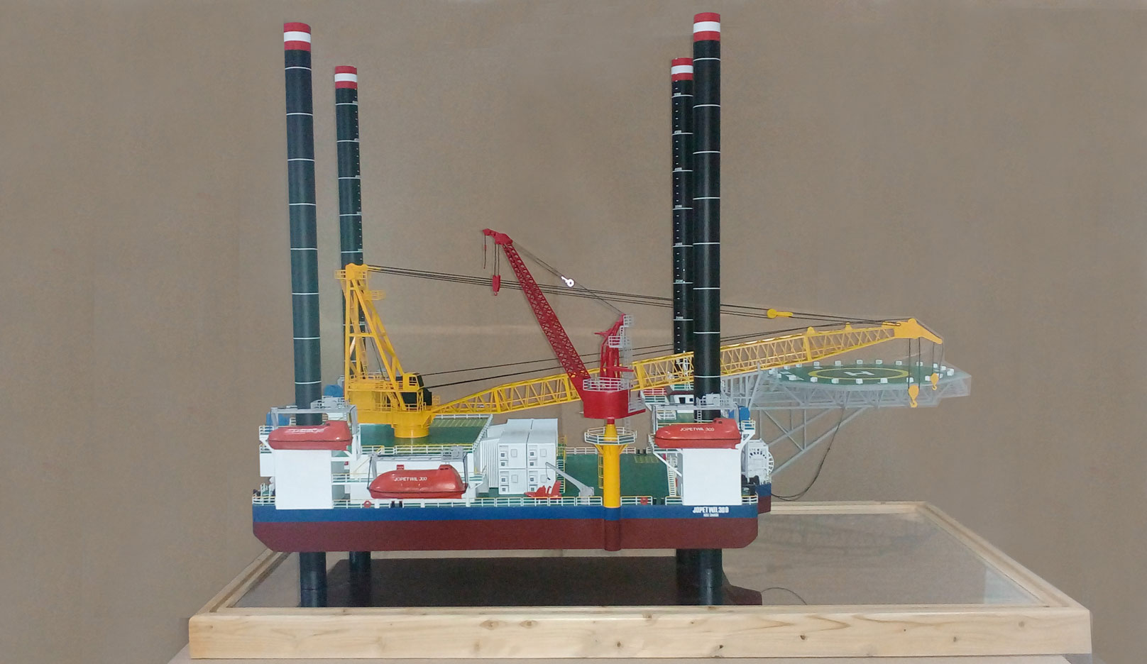 Scale model -  Ship - barge - Jopetwil 300