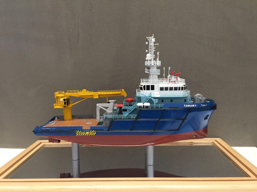Scale model - Ship - Crane boat - Tawam 1