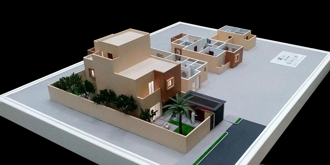 Scale Model - Architectural - Villas - Villa type 1 - UAE