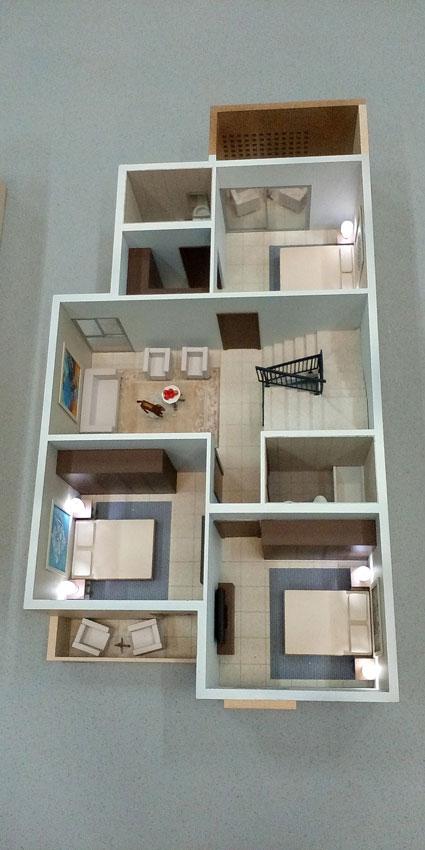 Scale Model - Architectural - Villas - Villa type 1, first floor - UAE
