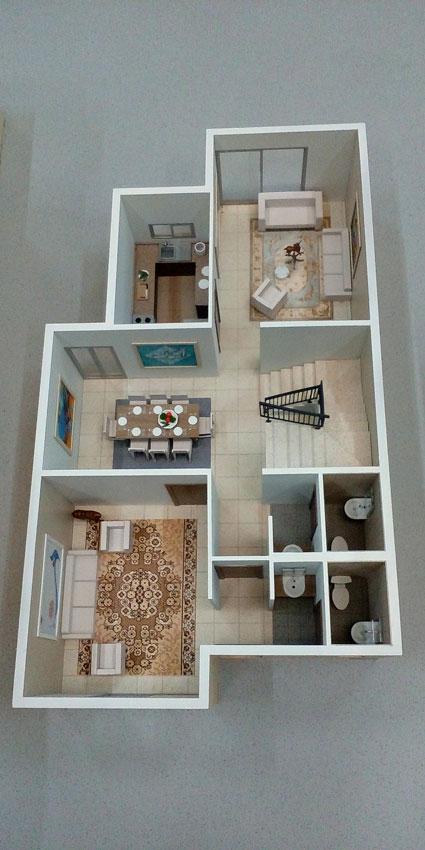 Scale Model - Architectural - Villas - Villa type 1, ground floor - UAE