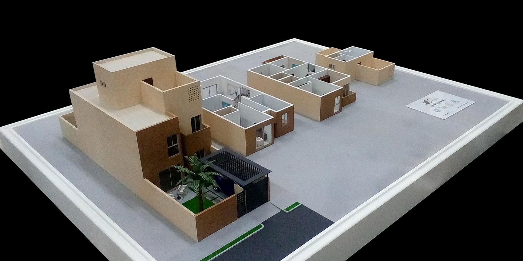 Scale Model - Architectural - Villas - Villa type 2 - UAE
