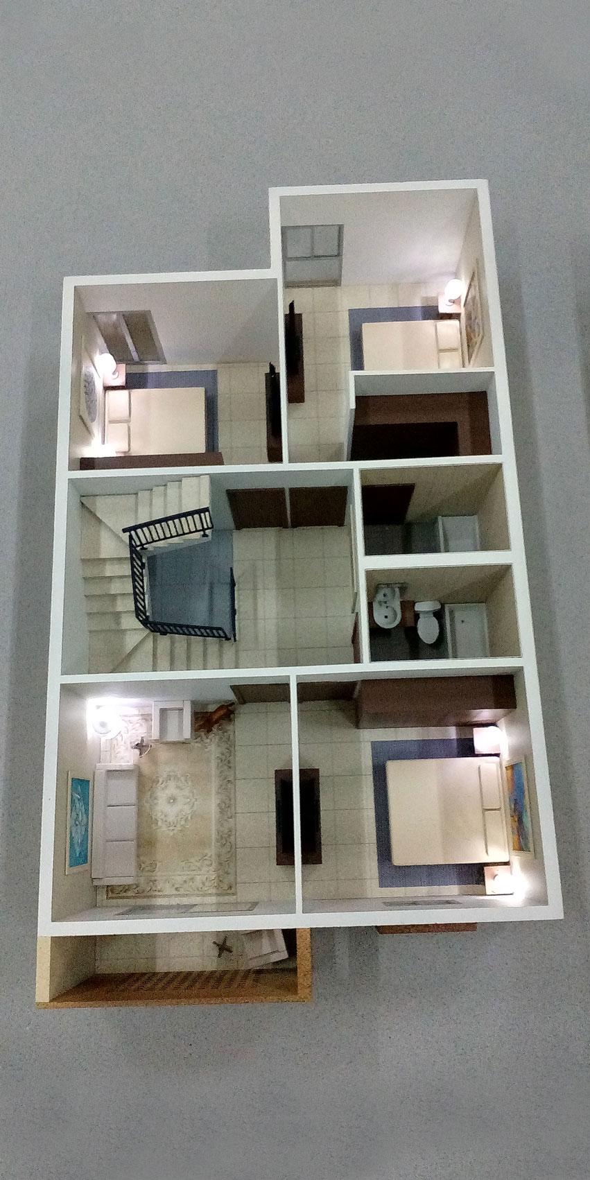 Scale Model - Architectural - Villas - Villa type 2, first floor - UAE