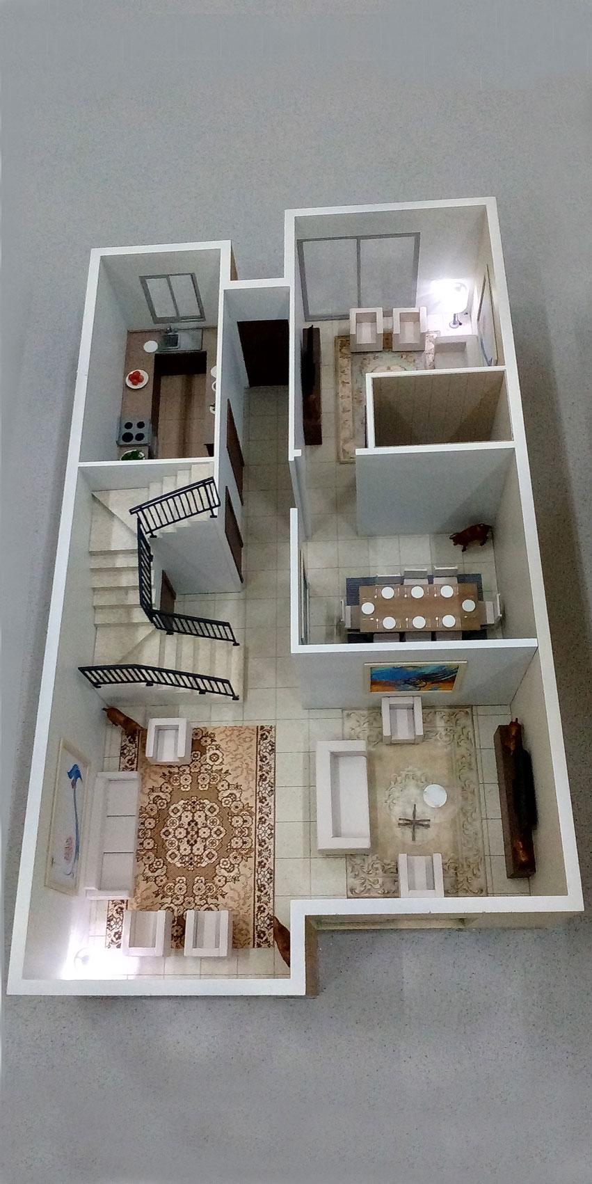 Scale Model - Architectural - Villas - Villa type 2, ground floor - UAE