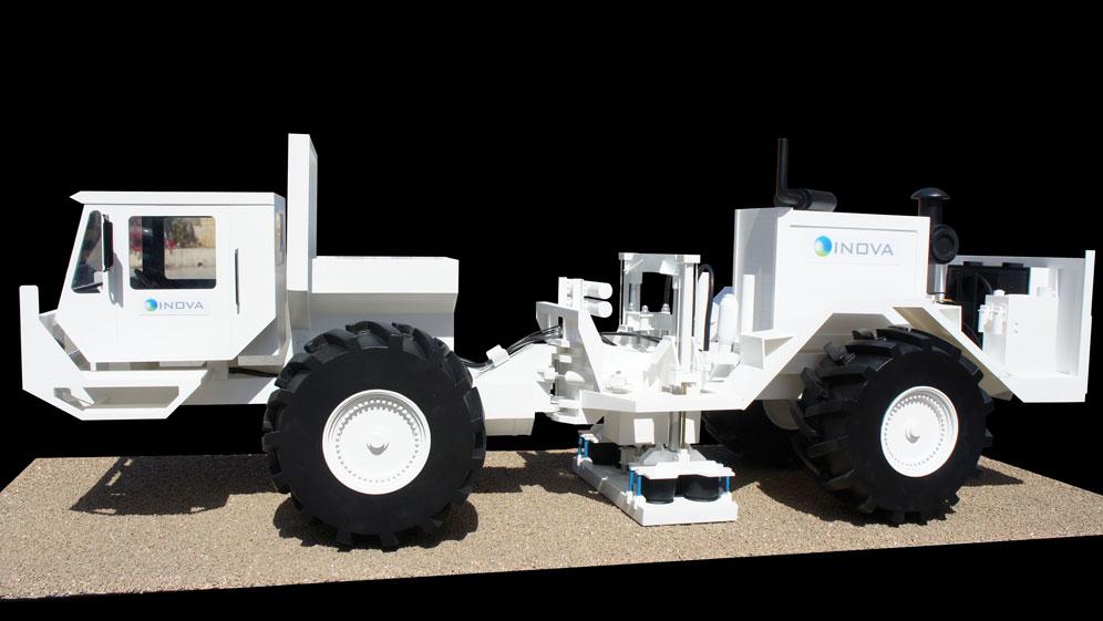 Scale Model - Vehicles - Earth vibrator scanner truck
