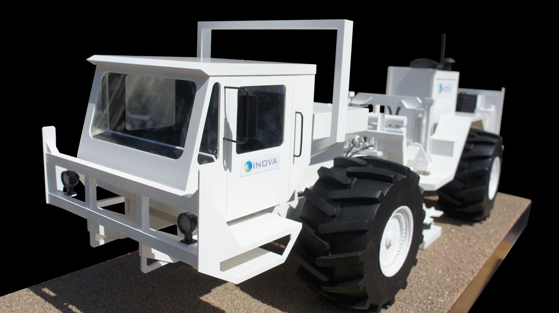 Scale Model - Vehicles - Earth vibrator scanner truck - INOVA