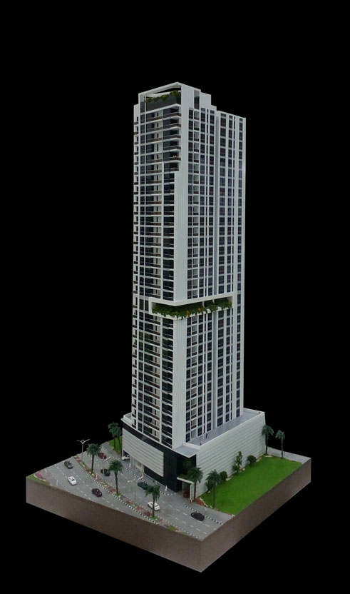 Scale Model - Architectural - Towers - West Bay Tower - UAE