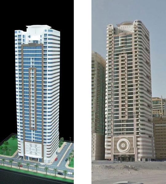 Al Huda II tower model